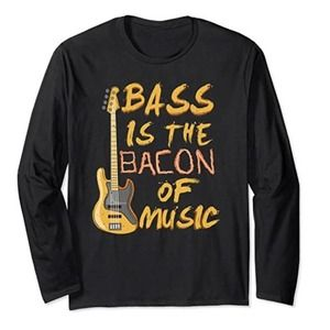 Bass is the Bacon of Music ~ Medium Graphic Tee